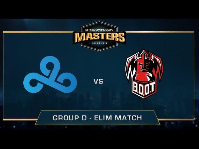 Cloud9 vs B.O.O.T-d[S] - Group A - Mirage - DreamHack Masters Malmö 2017