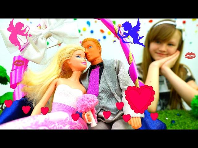 Игры для девочек: СВАДЬБА! БАРБИ выходит замуж💕 Свадебный торт из ПластилинПл ...