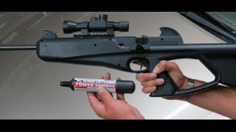 Crosman Nightstalker Airgun Shooting, Powered By 88 Gram Co2 Cylinder