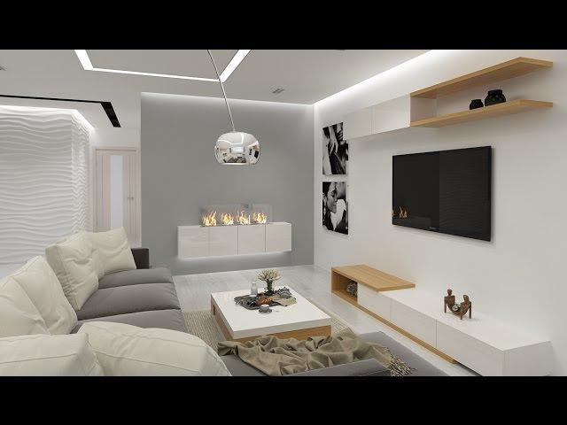 Интерьер квартиры в стиле минимализм для молодой пары