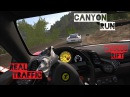 Porsche GT3 RS and 458 Italia Canyon Run REAL TRAFFIC VR Oculus Rift Assetto Corsa Gameplay