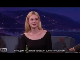 Elle Fanning Had Her First Kiss On Camera  - CONAN on TBS