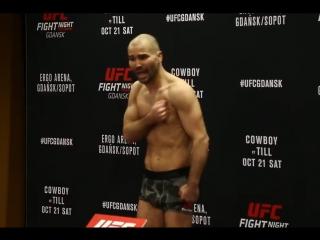 Короткая речь Артёма Лобова на взвешиваниях. UFC Гданьск.
