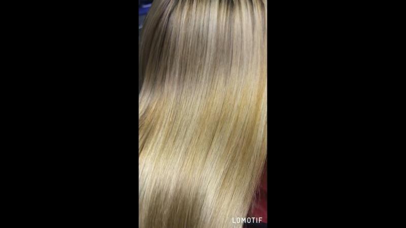 🌸Кератиновое выпрямление 🌸.‼️На второй части видео состав смыт, волосы высушены феном ✌🏼
