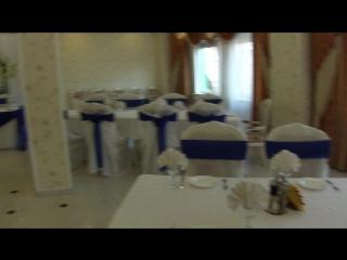 """синяя свадьба в кафе """"Милан""""  - воздушные шары под потолок"""