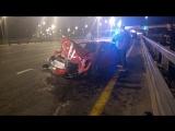 Последствия аварии с Ferrari в Подмосковье