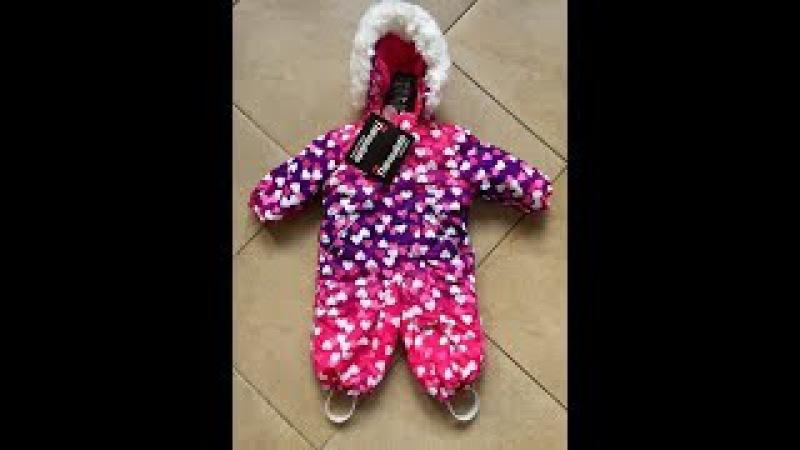 Зимний зимний мембранный комбинезон Valianly модель Звездочет цвет Magic Pink Hearts