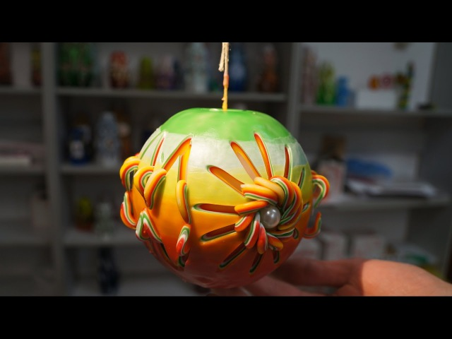 UNIQUE CUTTING CANDLE IN AFRICAN STYLE FROM CANDLE MASTER'S DIMSI. MASTER CLASS.
