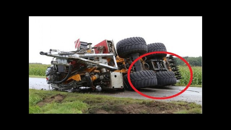 Top 10 Trucking Fail Skill - Heavy Equipment Truck overload accident Part 2