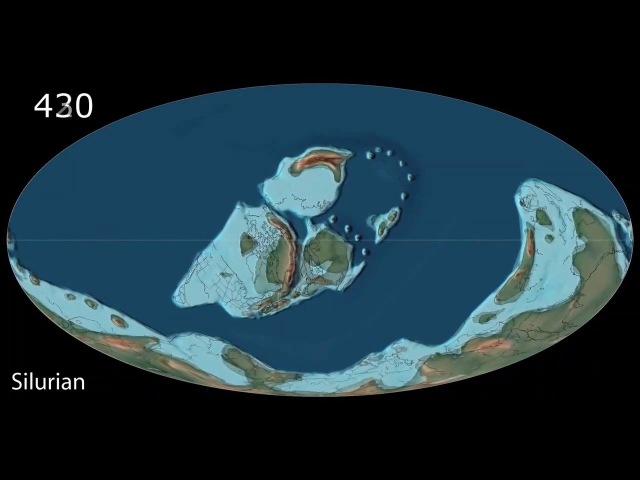 800 миллионов лет движения литосферных плит планеты Земля