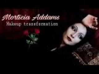 The Addams Family: Morticia Addams Makeup Transformation Tutorial
