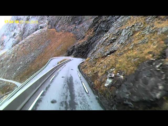 Girteka prof driver Norway, Norvegija road 63 max lenght 13,1m at truck 17m (part3)