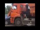 КамАЗ протаранил Honda CR-V, Омск