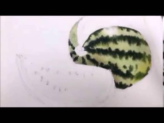 Galina Gomzina still life with watermelon