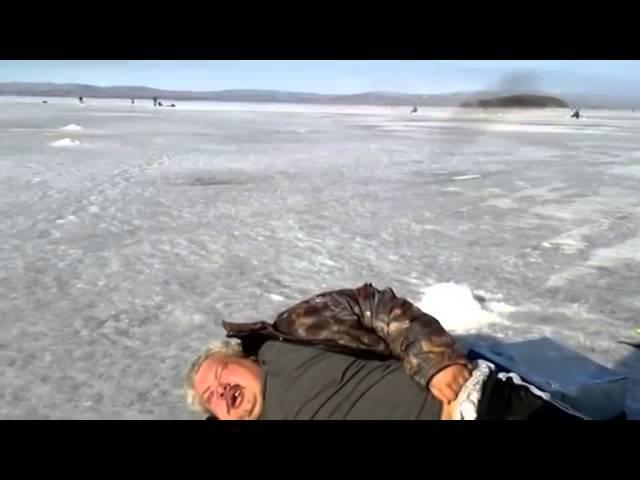Зимняя рыбалка, пьяный рыбак, Крепкий сон и все Нормально www.mwcom.ru