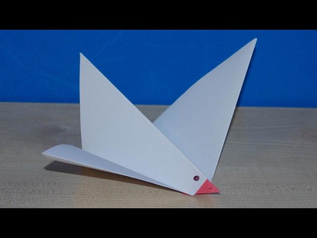 Голубь мира из бумаги. Детские поделки с элементами оригами.