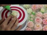Butter Cream Rose Cake