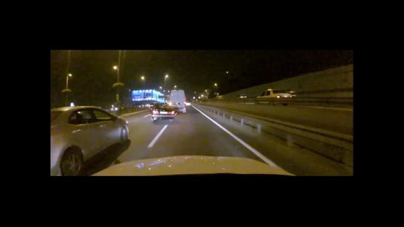 Агрессивные шашки в потоке [BMW E34]