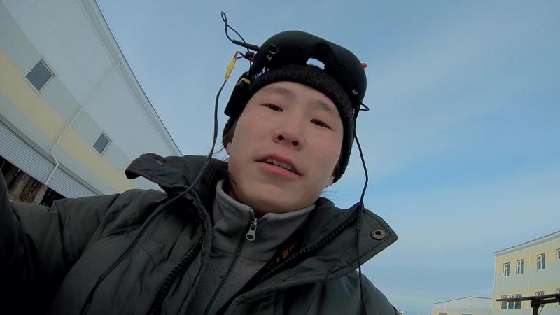 Мой первый FPV полет с экшн камерой на самодельном квадрокоптере.