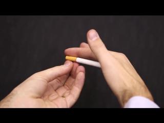 Фокус с исчезающий сигаретой, обучение