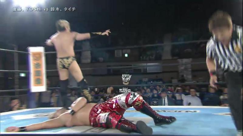 YOSHI-HASHI, Hirooki Goto vs. Taichi, Minoru Suzuki (NJPW - Best Of The Super Junior XXIV - Finals)