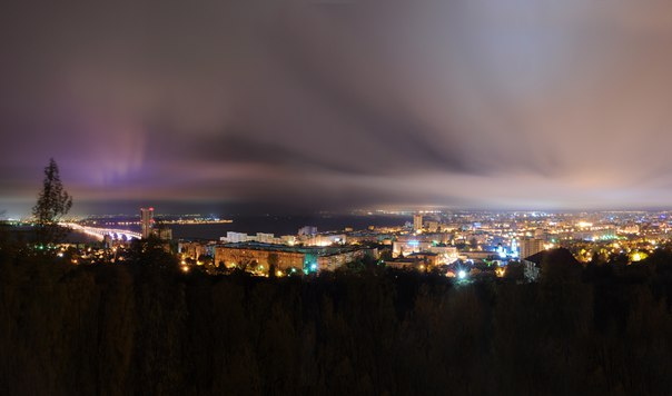 Ночная подсветка Саратова  Локация: Парк Победы Автор: [id26630796|Кон