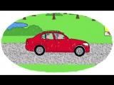 Мультик - Раскраска. Учим Цвета - Как делают дороги - Развивающие мультфильмы для детей про машинки