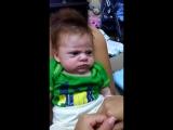 Ну очень серьезный малыш