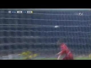 «Реал», ведя в счёте с разницей в два мяча, не сумел выиграть у «Боруссии» Д  В матче 6-го тура группового этапа Лиги чемпионов