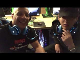 170210 Wu Yi Fan @ Vin Diesel Facebook Update