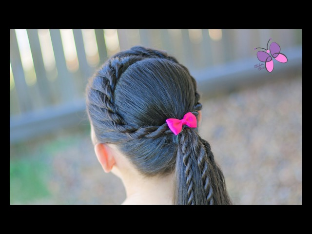 Cola con Corona de Torcidos/Twist - Twisted Ponytail   Coletas   Peinados con Trenzas   Chikas Chic