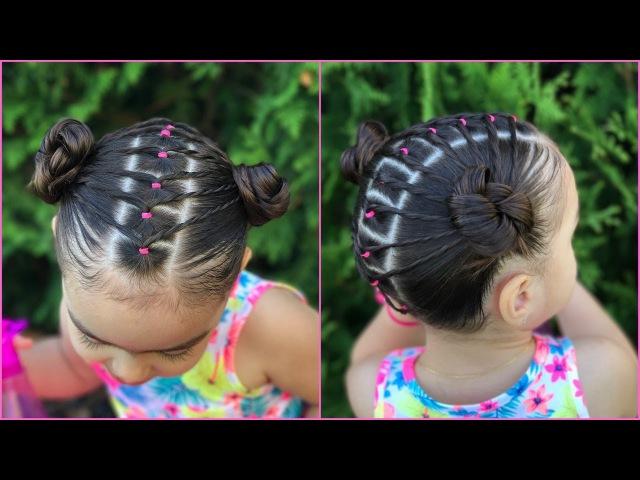 Peinado facil y rapido para niñas con ligas y coletas  peinados faciles y rapidos  LPH