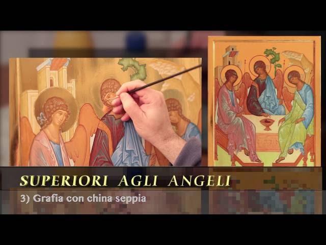 Dipingere la Trinità DEMO: 3. grafia con china seppia