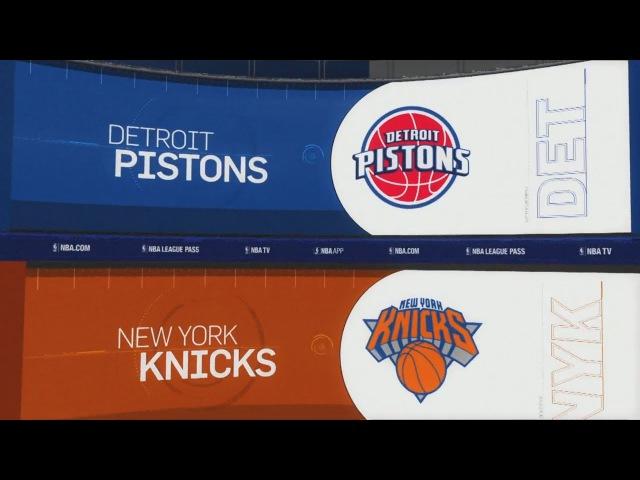Обзор НБА Нью-Йорк Никс – Детройт Пистонс 22.10.17