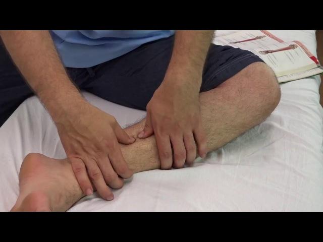 💎 Плоскостопие. Самомассаж задней большеберцовой мышцы   Массаж обучение