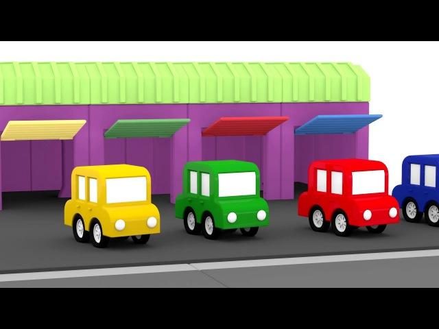 Lehrreicher Zeichentrickfilm - Die 4 kleinen Autos - Wir bauen einen Krankenwagen