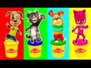 Говорящий Кот Том Герои в масках Свинка Пеппа Барбоскины Цвета для детей