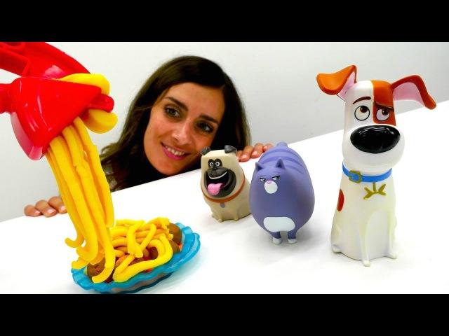 PlayDoh Video: PETS Toys kneten die Frikadellen 🍲 und spielen Fußball ⚽LifeofPets Video