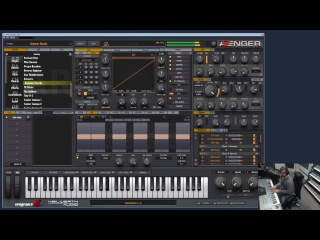 Vengeance Producer Suite - Avenger - live demonstration of factory presets long version