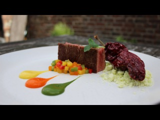 Plating techniques 6- How to cook a steak. Plating like a fine dining, michelin star chef.