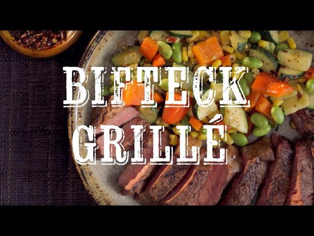 GUIDE PRATIQUE DES BIFTECKS À GRILLER Bifteck du sud-ouest avec sauté au Succotash.