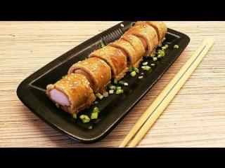 Японские пироги-роллы с маринованной куриной грудкой