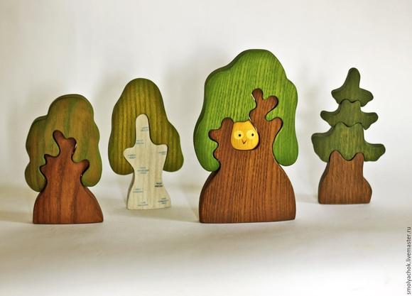 Развивающие из дерева игрушки своими руками