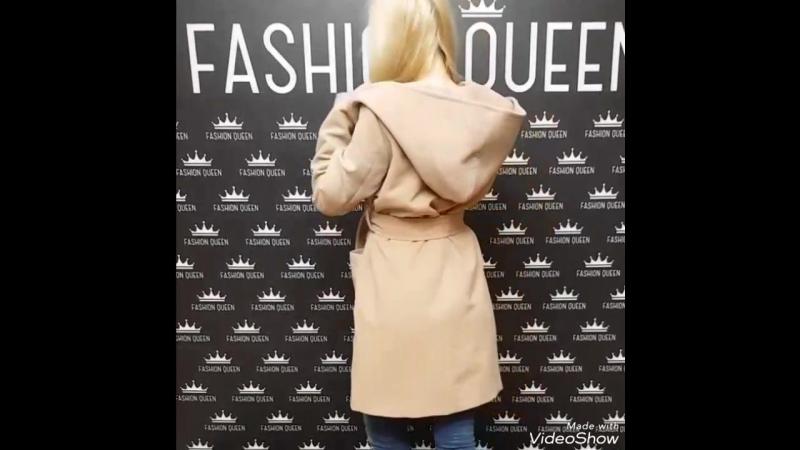 Демисезонное кашемировое пальто свободного кроя с капюшоном🔥🔥🔥🍁🍃🍂цена:2900₽🔥 Отличное качество!под заказ😍 размер:универсал 42-48