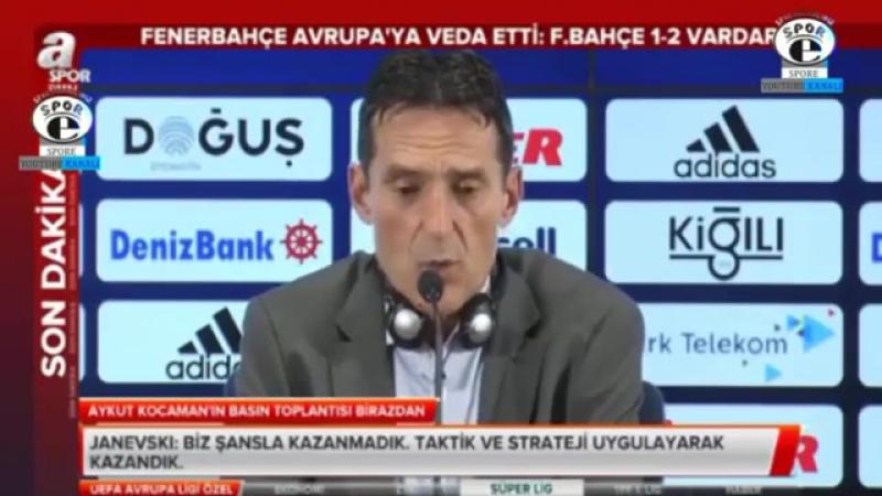 Fenerbahçe 1-2 Vardar maç sonu Aykut Kocaman basın toplantısı 24 Ağustos 2017.mp4