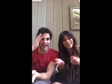 Lea Michele and Darren Criss on Facebook Live