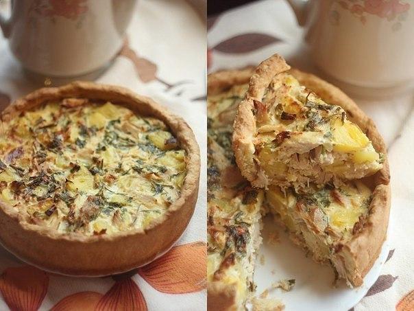 Пирог с курицей и картофелем. Идеальное сочетание! Тесто
