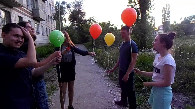 24 мая, выпускники студии, пускаем шарики с желаниями!