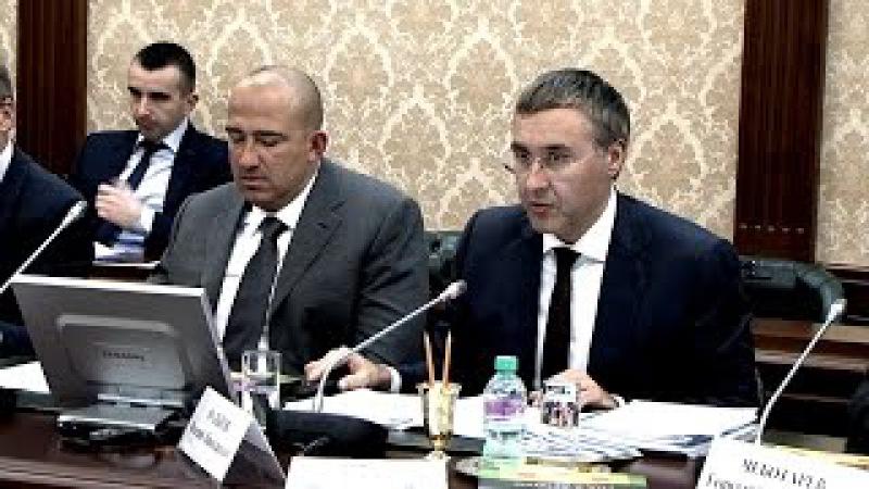 Выступление ректора Валерия Фалькова на заседании Наблюдательного совета ТюмГУ