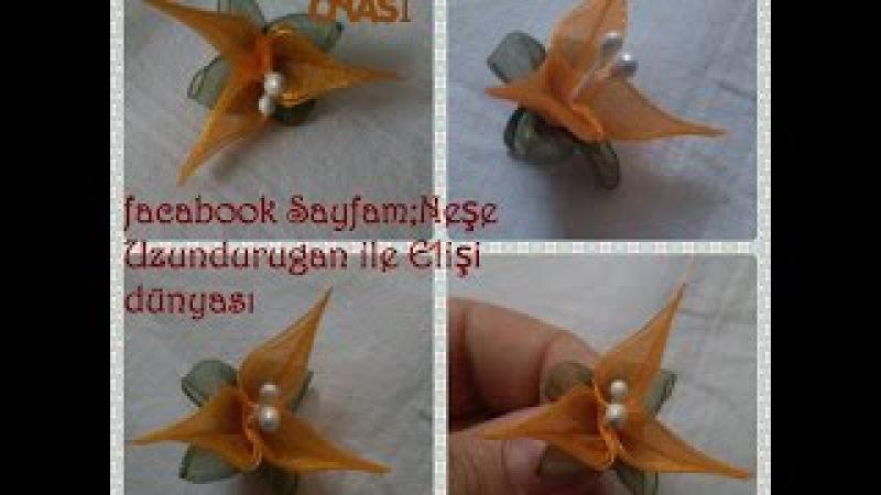 Organze Kurdele oyaları220ÇLÜ GALA ÇİÇEĞİForex flower,health flower,holiday flower, Taksim flower,